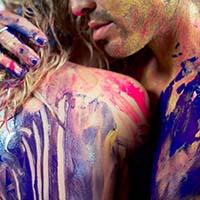 Výber farby na maľovanie nahým telom